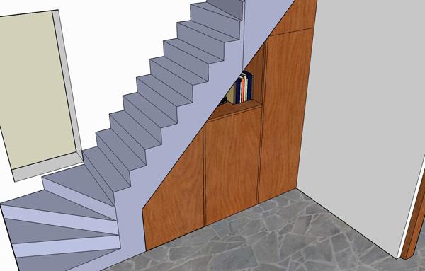 гардероб под стълбите
