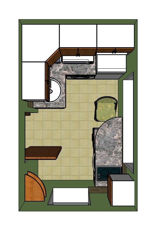 кухня - поглед отгоре