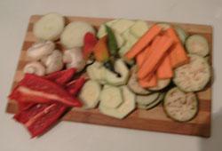 Зеленчуци на плоча - приготовление