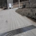 отводнителна решетка на горната улица