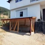 07: Дървена барака - конструкция и покрив