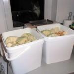кутии със зеле, готови за заливане със саламура