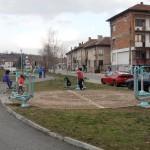 Паркът. Детски фитнес кът.